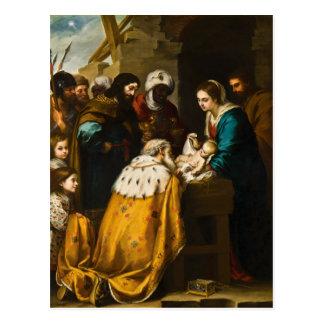 Adoration of the Magi - Murillo Postcard