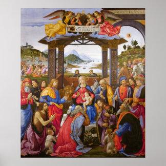 Adoration of the Magi Ospedale degli Innocenti Poster