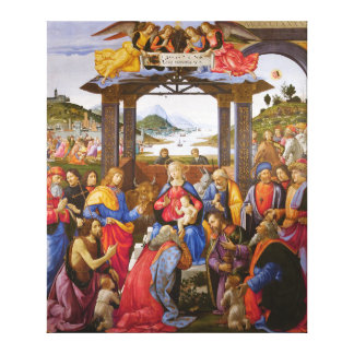 Adoration of the Magi Ospedale degli Innocenti Stretched Canvas Prints