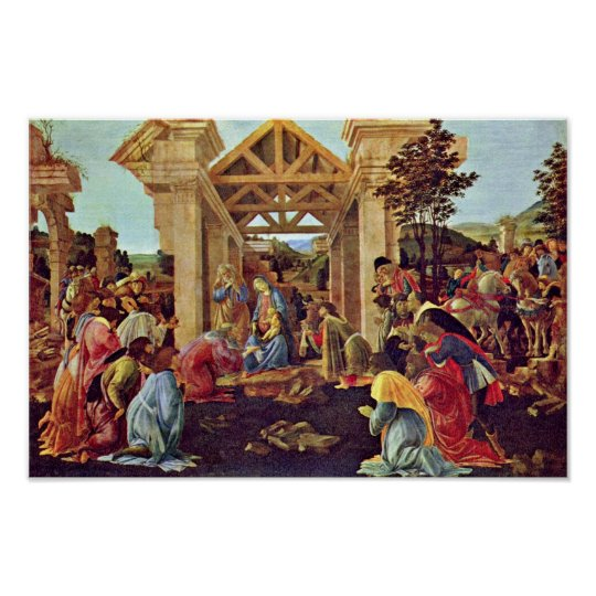 Adoration Of The Magi (Washington) By Botticelli Poster