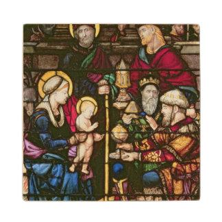 Adoration of the Magi Wood Coaster