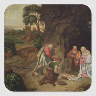 Adoration of the Shepherds, 1510 Square Sticker