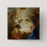 Adoration of the Shepherds 15 Cm Square Badge