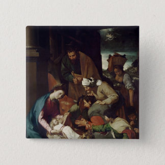 Adoration of the Shepherds, 1630 15 Cm Square Badge
