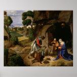 Adoration of the Shepherds by Giorgio da Castelfra Poster