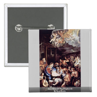 Adoration Of The Shepherds By Reni Guido 15 Cm Square Badge