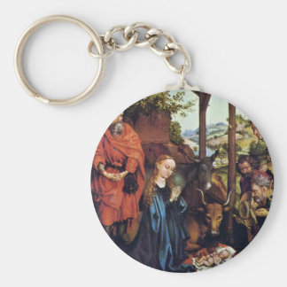 Adoration Of The Shepherds By Schongauer Martin (B Keychains