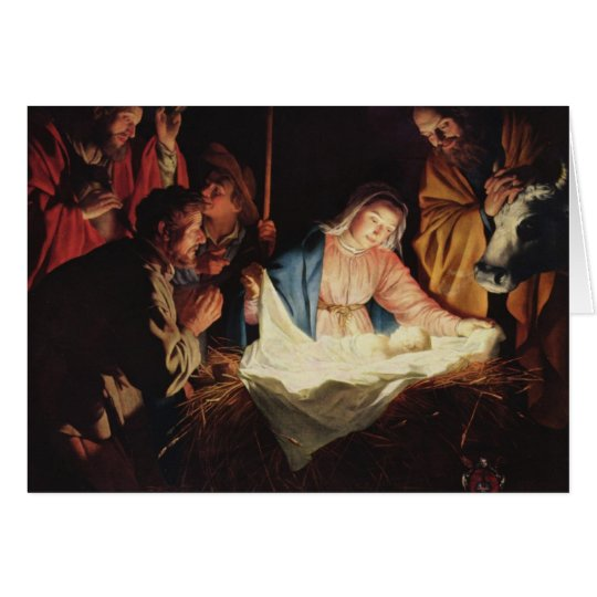 Adoration of the Shepherds Christmas Card