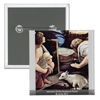 Adoration Of The Shepherds Detail By Guido Reni 15 Cm Square Badge