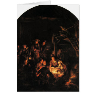 Adoration of the Shepherds - Rembrandt 1640. Card