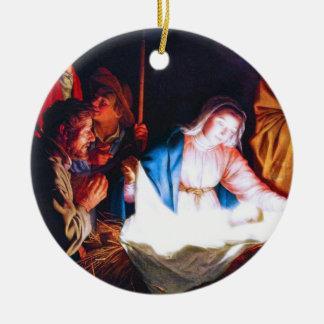 Adoration of the Shepherds Round Ceramic Decoration