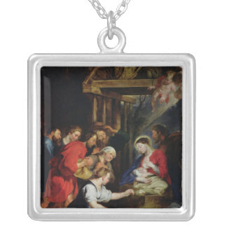 Adoration of the Shepherds Silver Plated Necklace