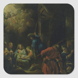 Adoration of the Shepherds Square Sticker
