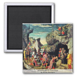 Adoration Of The Three Kings By Andrea Mantegna Refrigerator Magnet