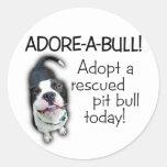 Adore-A-Bull Pit Bull! Round Sticker