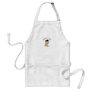 adore a pug adult apron