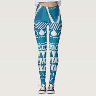 Adore womens aqua geo leggings