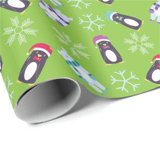 Adorible Polar Bear and Penguin Wrapping Paper