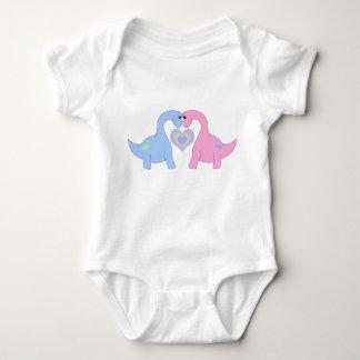 Adoring Apatosaurus Baby Bodysuit