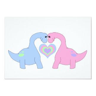 Adoring Apatosaurus 5x7 Paper Invitation Card