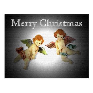 Adoring Cherubs Christmas Postcard
