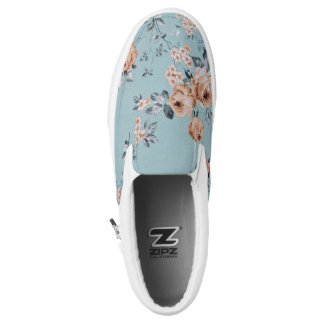 Adoring Flowers - Slip On Shoes Unisex Printed Shoes