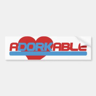 Adorkable Adorable Dork Bumper Sticker