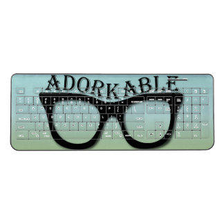 Adorkable Geek Nerd Glasses Wireless Keyboard