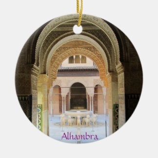 Adornment, Patio of the From Leon one, Alhambra, G Christmas Ornament