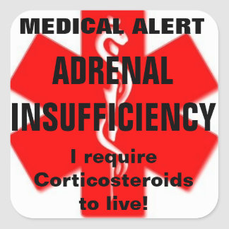 ADRENAL insufficiency stickers