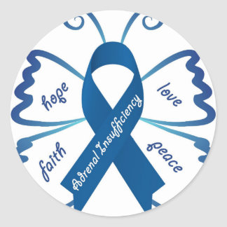 Adrenal Insufficiency: We Need Your Support Classic Round Sticker
