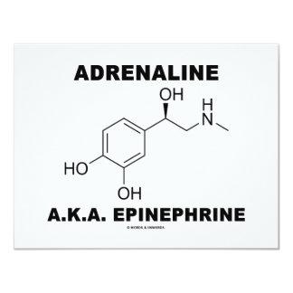Adrenaline A.K.A. Epinephrine (Chemistry) 11 Cm X 14 Cm Invitation Card