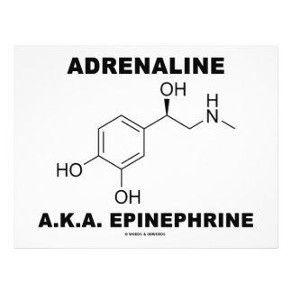 Adrenaline A.K.A. Epinephrine (Chemistry) 21.5 Cm X 28 Cm Flyer