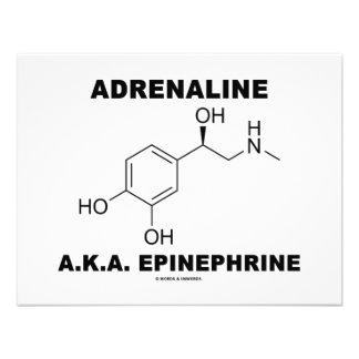 Adrenaline A.K.A. Epinephrine (Chemistry) Custom Invitations