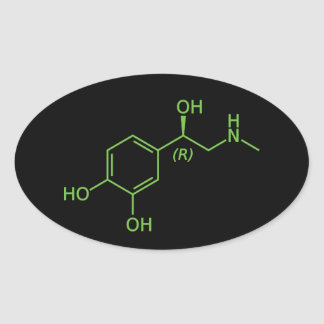 Adrenaline Molecule Oval Stickers