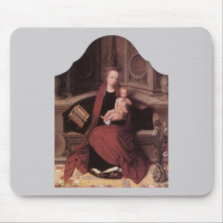 Adriaen Isenbrandt Virgin and Child Enthroned Mouse Pad