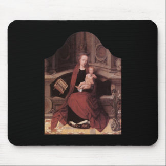 Adriaen Isenbrandt Virgin and Child Enthroned Mouse Pads