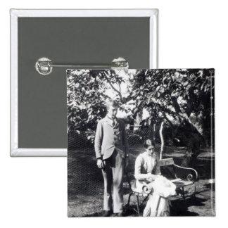 Adrian and Virginia Stephen, 1900 15 Cm Square Badge