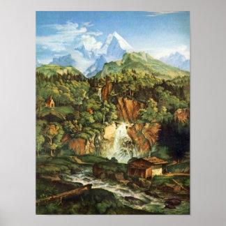 Adrian Ludwig Richter - The Watzmann Poster