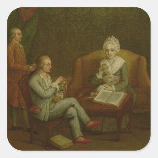 Adriana Giustinian Barbarigo and her Son Gerolamo Square Sticker