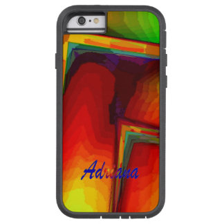 Adriana Green & Orange Tough Xtreme iPhone case