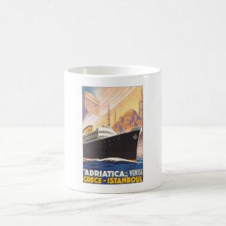 Adriatica Venise Grece Istamboul Vintage Travel Po Basic White Mug