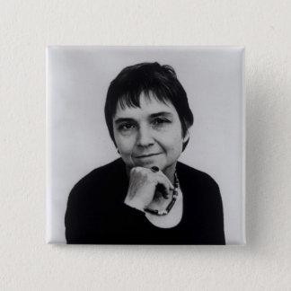 Adrienne Cecile Rich , 1970s 15 Cm Square Badge