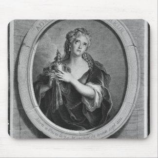 Adrienne Lecouvreur  engraved by Pierre Drevet Mouse Mat