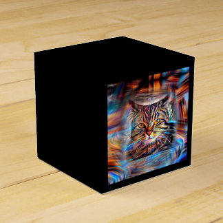 Adrift in Colors Abstract Revolution Cat Favour Box