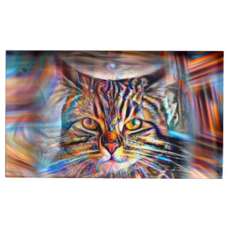 Adrift in Colors Abstract Revolution Cat Table Card Holder
