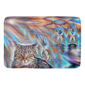 Adrift in Colors Tropical Sunset Cat Bath Mat