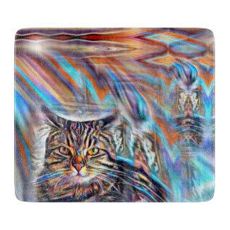 Adrift in Colors Tropical Sunset Cat Cutting Board