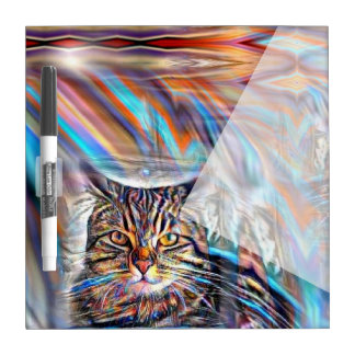 Adrift in Colors Tropical Sunset Cat Dry Erase Board