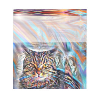 Adrift in Colors Tropical Sunset Cat Notepad